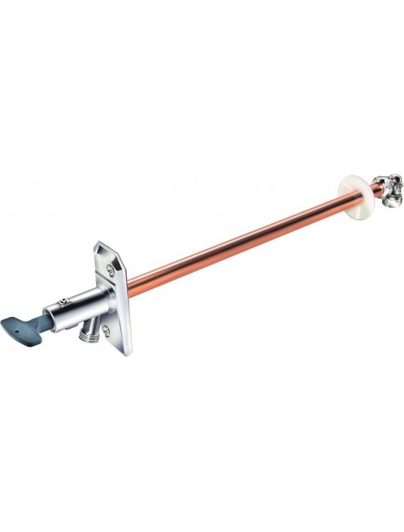 Наружный кран с обратным клапаном и ключом, самоосушающийся Для стен толщиной не более 400 мм