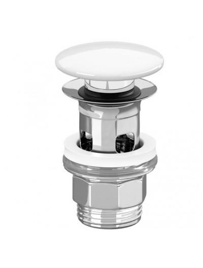Нажимной донный клапан с керамической крышкой